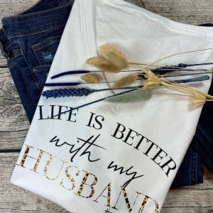 life is better with... shirt mit leo-muster